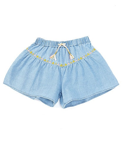 Peek Little/Big Girls 2T-12 Alexa Chambray Shorts