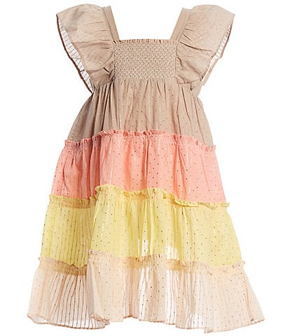 Peek Little/Big Girls 2T-12 Caroline Colorblock Tiered A-Line Dress