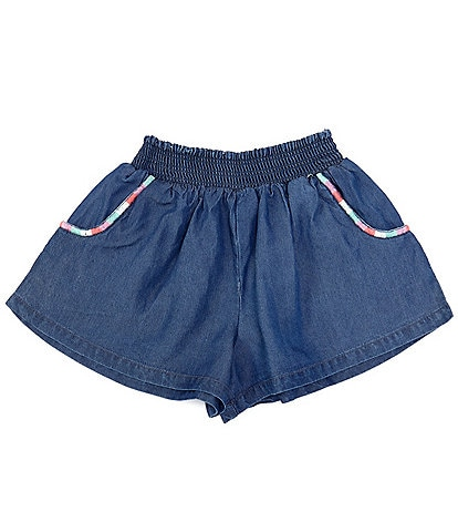 Peek Little/Big Girls 2T-12 Embroidered-Pocket Shorts