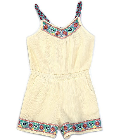 Peek Little/Big Girls 2T-12 Embroidered Romper