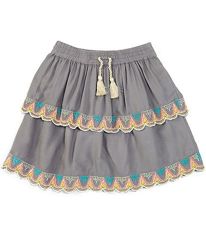 Peek Little/Big Girls 2T-12 Embroidered Ruffle Skirt