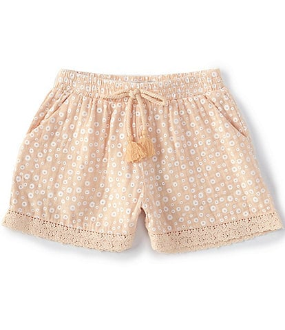 Peek Little/Big Girls 2T-12 Everly Printed Lace-Trimmed Shorts