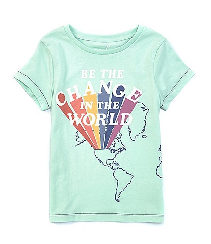 Peek Little/Big Girls 2T-12 Short-Sleeve Change The World Tee