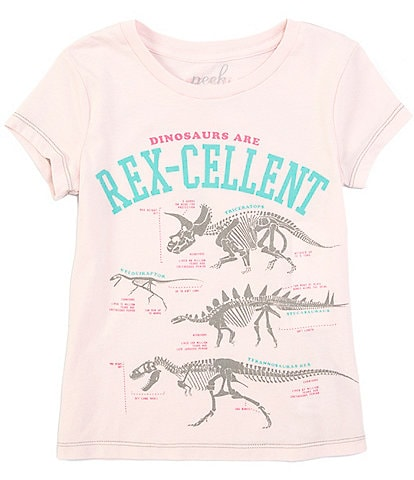 Peek Little/Big Girls 2T-12 Short-Sleeve Dino Rex-Cellent Tee