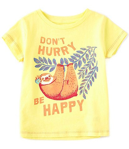 Peek Little/Big Girls 2T-12 Short-Sleeve Don't Hurry Be Happy Tee