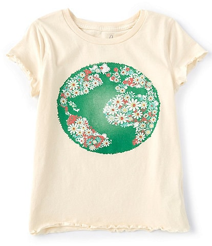 Peek Little/Big Girls 2T-12 Short-Sleeve Flowers Globe Tee