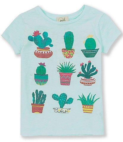 Peek Little/Big Girls 2T-12 Short-Sleeve Giada Cacti Tee