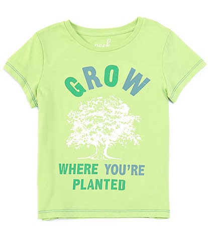 Peek Little/Big Girls 2T-12 Short-Sleeve Grow Where You're Planted Tee