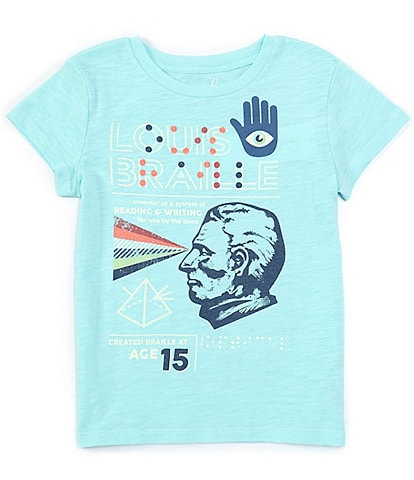 Peek Little/Big Girls 2T-12 Short-Sleeve Louis Braille Tee