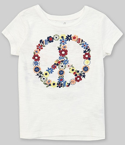 Peek Little/Big Girls 2T-12 Short-Sleeve Peace Sign Graphic Tee