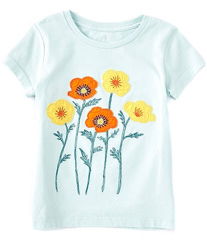 Peek Little/Big Girls 2T-12 Short-Sleeve Poppy Flower Tee
