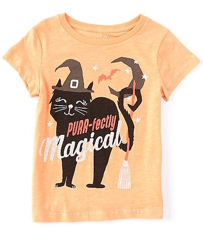 Peek Little/Big Girls 2T-12 Short-Sleeve Spooky Cat Graphic Tee
