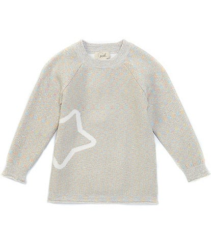 Peek Little/Big Girls 2T-12 Star-Applique Melange Wool-Blend Sweater