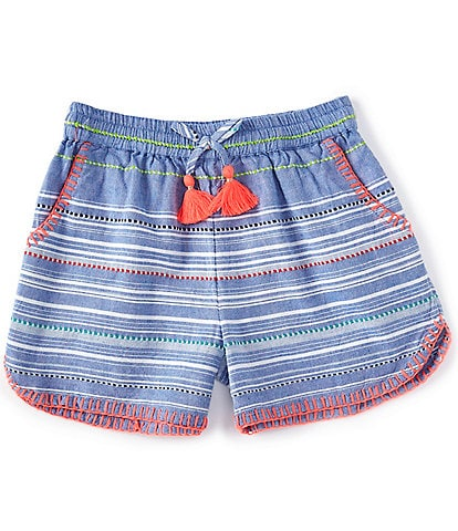 Peek Little/Big Girls 2T-12 Striped Dolphin Shorts
