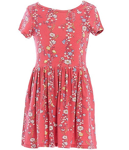 Peek Little/Big Girls 2T-14 Floral Knit A-Line Dress