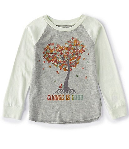 Peek Little/Big Girls 2T-14 Long-Sleeve Why Leaves Change Raglan Tee
