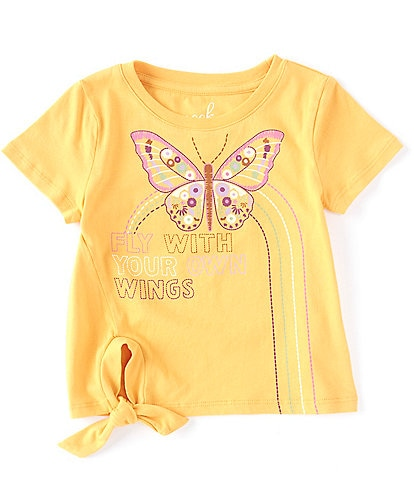 Peek Little/Big Girls 2T-12 Short-Sleeve Butterfly Tee
