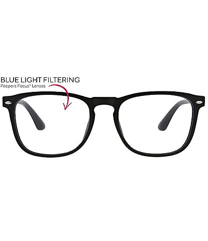Peepers Men's Dylan Blue Light Reader Glasses
