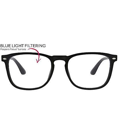 Peepers Men's Dylan Blue Light Reader Glasses