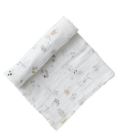 Pehr Baby Magical Forest Organic Cotton Swaddle Blanket