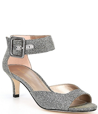 Pelle Moda Berlin Glitter Ankle Strap Pumps
