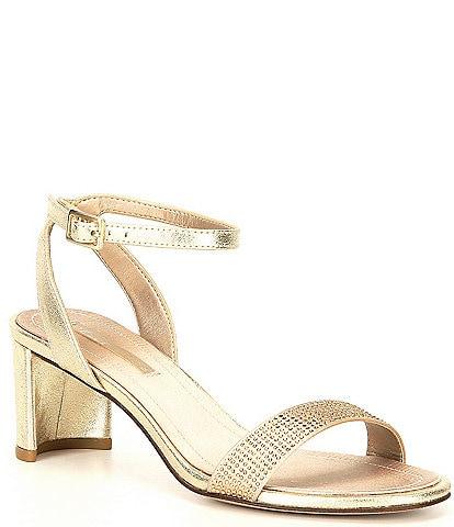Pelle Moda Moira Rhinestone Embellished Ankle Strap Dress Sandals