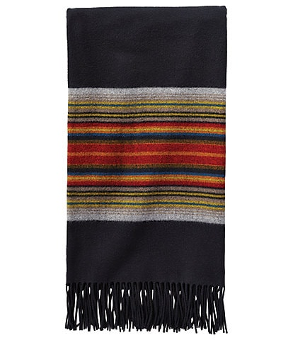 Pendleton 5th Avenue Collection Acadia Park Fringed Merino Wool Throw
