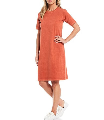 Pendleton Deschutes Short Sleeve Knee Length Tee Dress