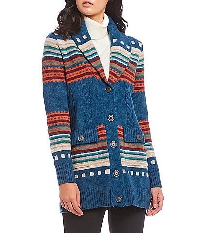 Pendleton Lodge Stripe Boyfriend Cardigan