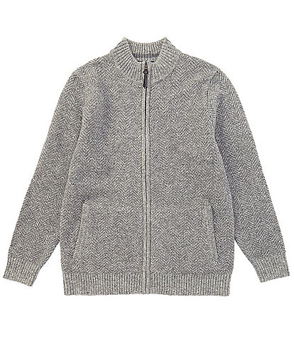 Pendleton Shetland Wool Full-Zip Sweater