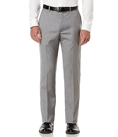 Perry Ellis Big & Tall Herringbone Suit Separates Flat Front Pants
