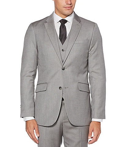 Perry Ellis Big & Tall Herringbone Suit Separates Jacket