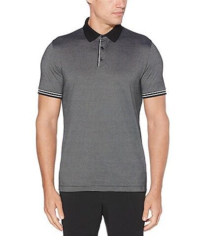 Perry Ellis Big & Tall Icon Performance Short-Sleeve Polo Shirt