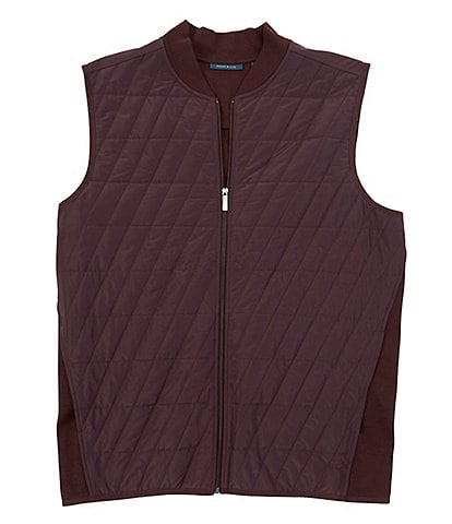 Perry Ellis Big & Tall Ponte Quilted Full-Zip Vest