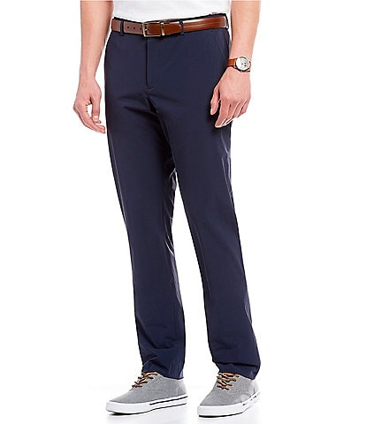Perry Ellis Big & Tall Slim-Fit Flat-Front Solid Stretch Tech Pants