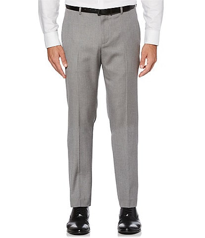 Perry Ellis Big & Tall Slim Fit Herringbone Suit Separates Flat Front Pants