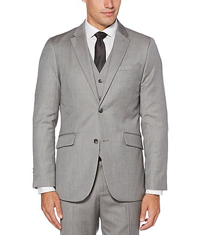 Perry Ellis Big & Tall Slim-Fit Herringbone Suit Separates Jacket
