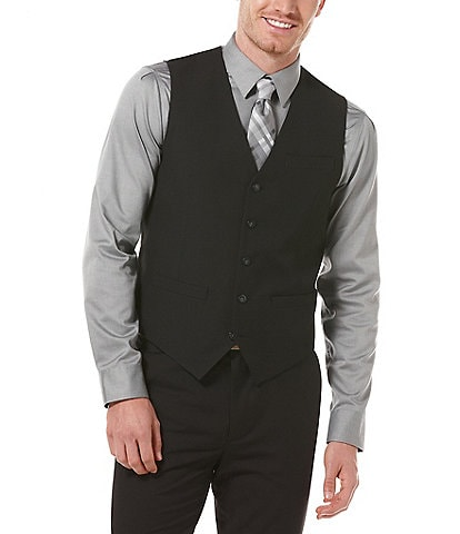 Perry Ellis Big & Tall Solid 5-Button Vest