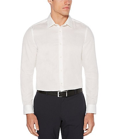 Perry Ellis Big & Tall Solid Dobby Wrinkle-Resistant Water-Repellent Long-Sleeve Woven Shirt