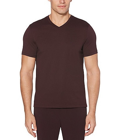 Perry Ellis Big & Tall Solid V-Neck Short-Sleeve Tee