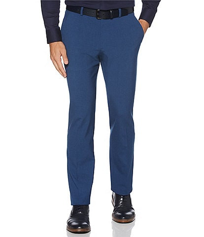 Perry Ellis Big & Tall Solid Wrinkle-Resistant Performance Stretch Washable Pants