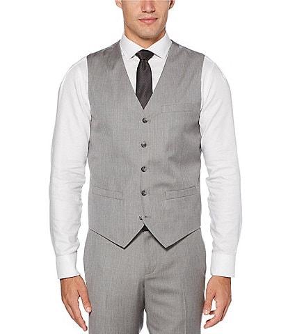 Perry Ellis Herringbone Suit Separates Vest