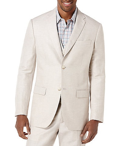 Perry Ellis Linen Herringbone Suit Separates Blazer
