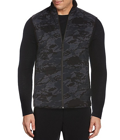 Perry Ellis Motion Quilted Camo Stretch Full-Zip Vest