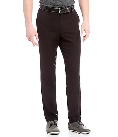 Perry Ellis Non-Iron Very Slim-Fit Solid Performance Flat Front Stretch Pants