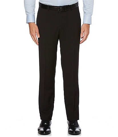 Perry Ellis Non-Iron Solid Stretch Flat Front Dress Pants