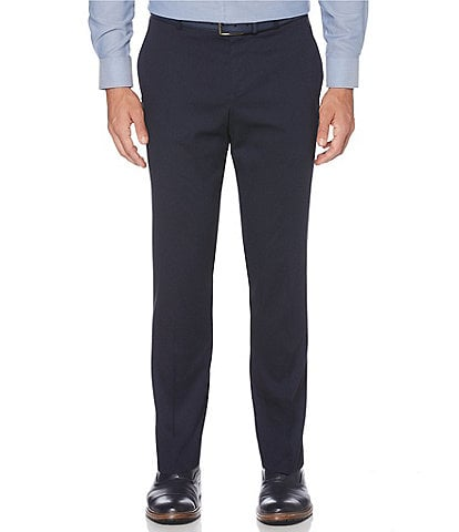 Perry Ellis Non-Iron Very Slim-Fit Solid Wrinkle Resistant Stretch Pants
