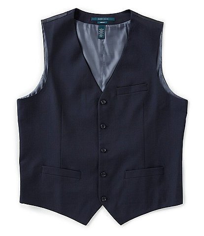 Perry Ellis Pinstripe Wrinkle-Resistant Performance Stretch Vest