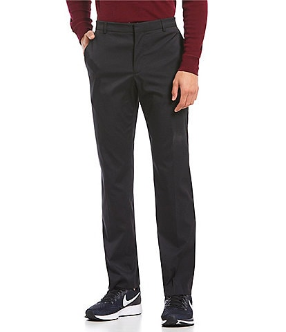 e15a35d4530ca Perry Ellis Premium Performance Flat-Front Classic Fit Flex Waist Stretch  Pants