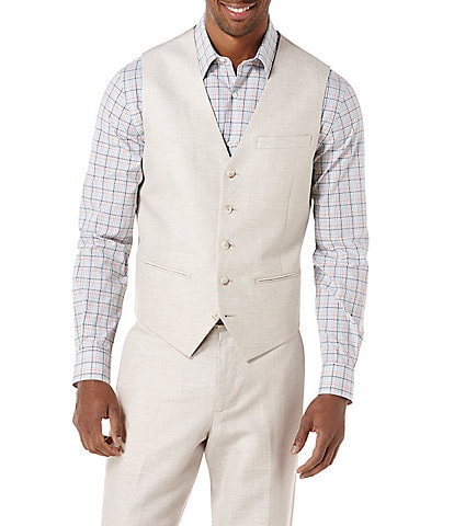 Perry Ellis Regular-Fit Linen Vest